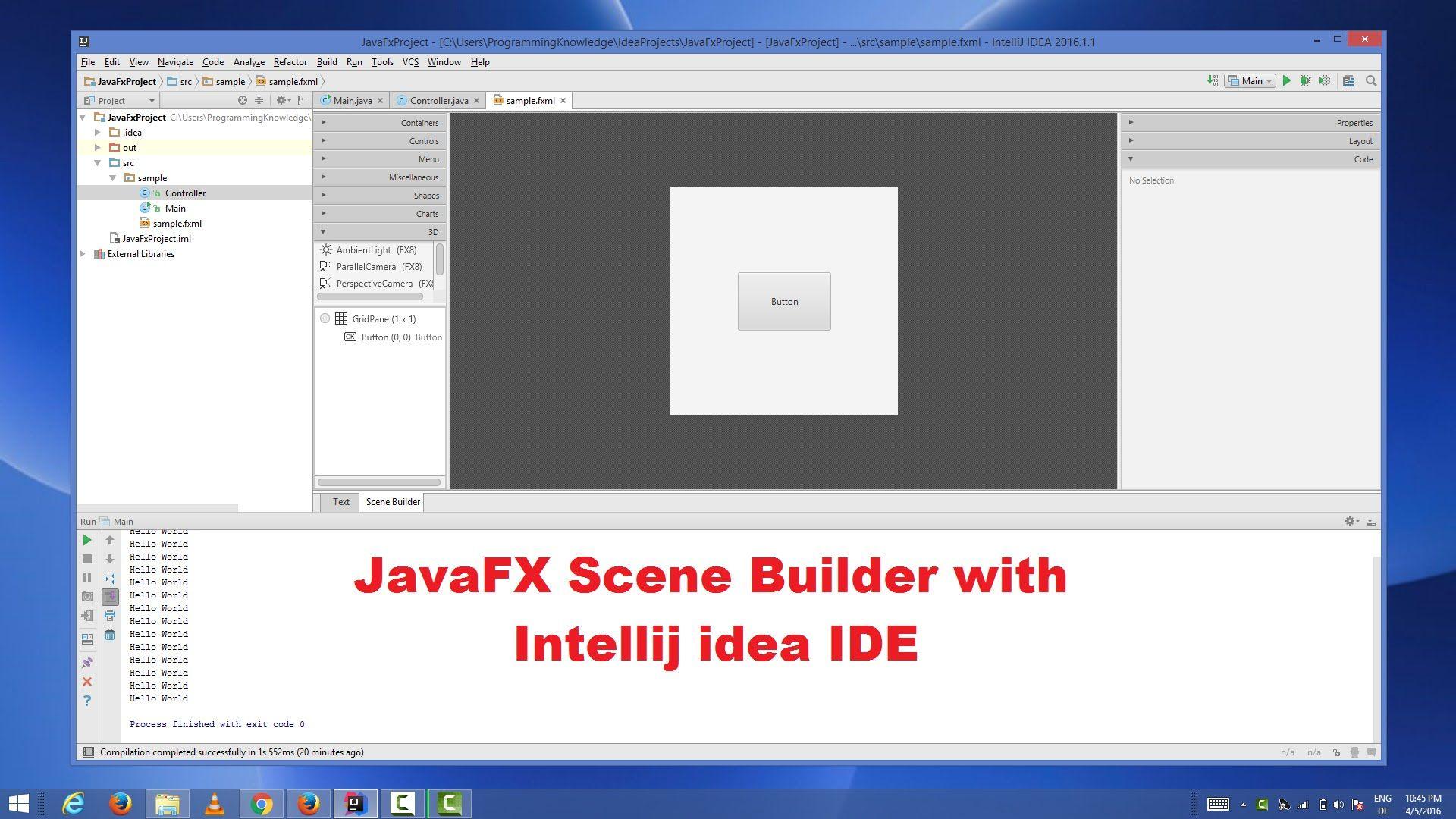How to Create a JavaFX Project in IntelliJ IDEA Using Scene