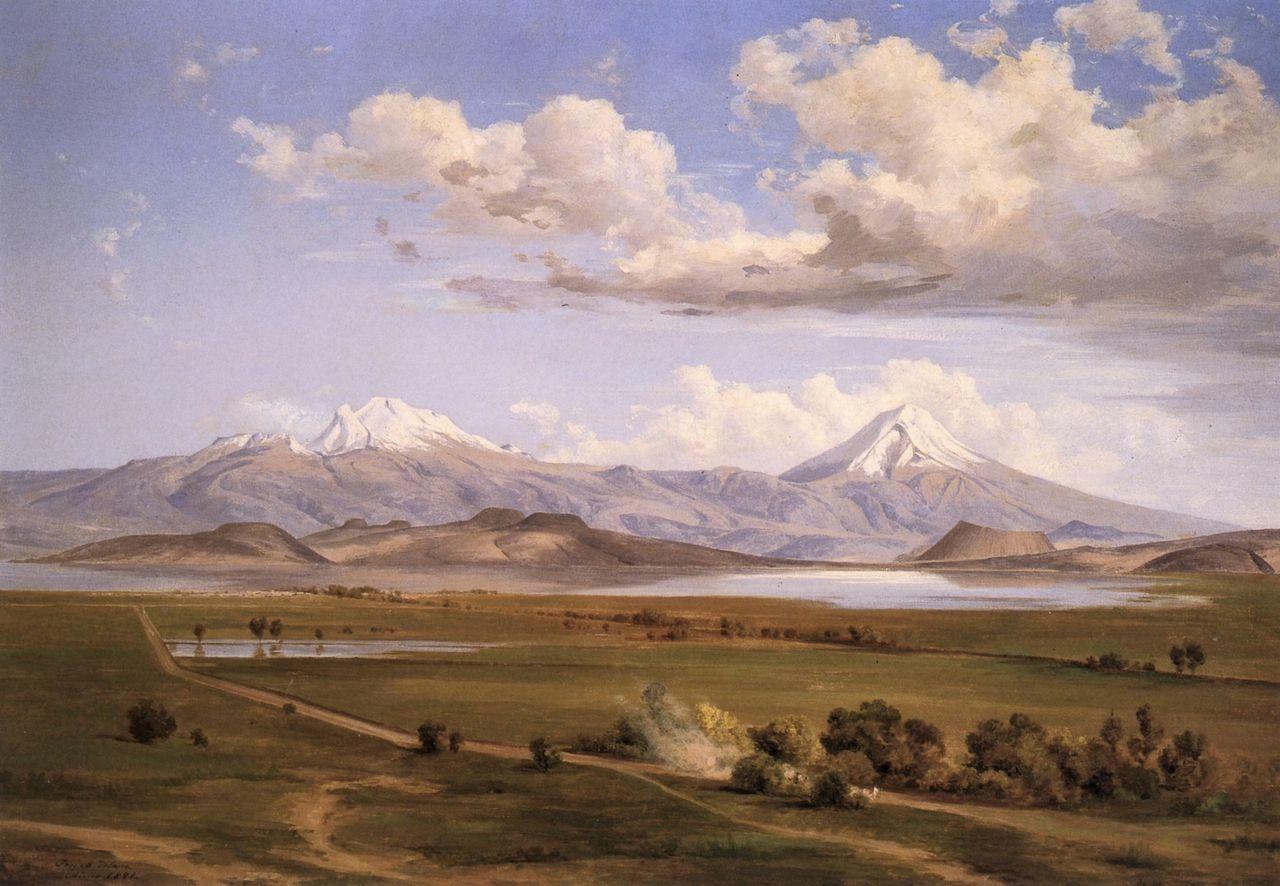 The Athenaeum Camino A Chalco Con Los Volcanes Jose Maria Velasco Jose Maria Velasco Velasco Arte Feliz