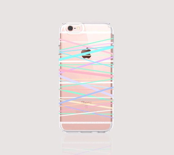 iPhone 6s Case Clear Stripe iPhone 6S Plus Case by casesbycsera http://www.verlengmijnmobiel.com/samsung-galaxy-s6-welk-abonnement-is-de-beste-aanbieding/