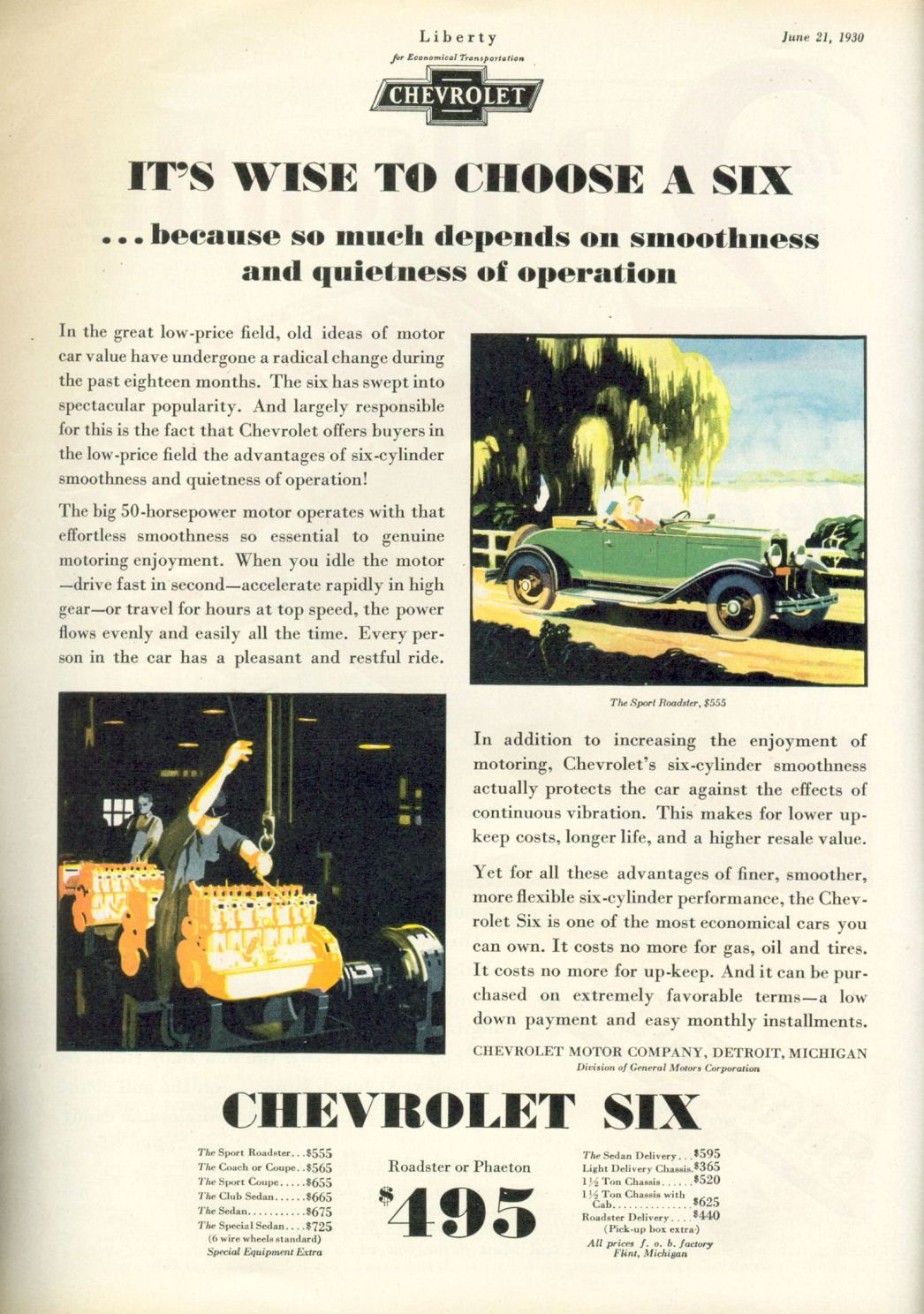 1930 chevrolet sedan | old car ads home | old car brochures | old ...