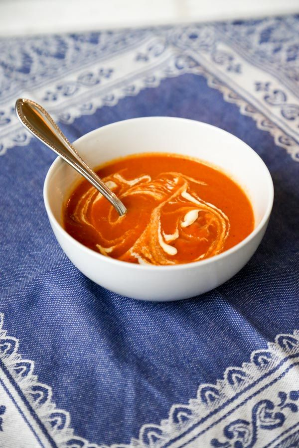 Creamless Tomato Soup with Fresh Roasted Tomatoes Recipe Chili