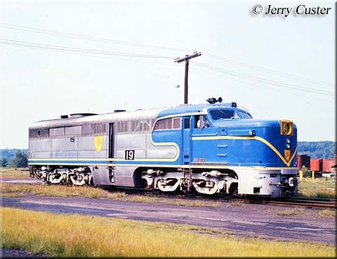 (PA-4). Delaware & Hudson #19. Four ALCO PA-1s were upgraded with ALCO 251 engine and electrical equipment by Morrison-Knudsen in 1974-75 for passenger service and renamed as PA-4's. (AAR) C-C.
