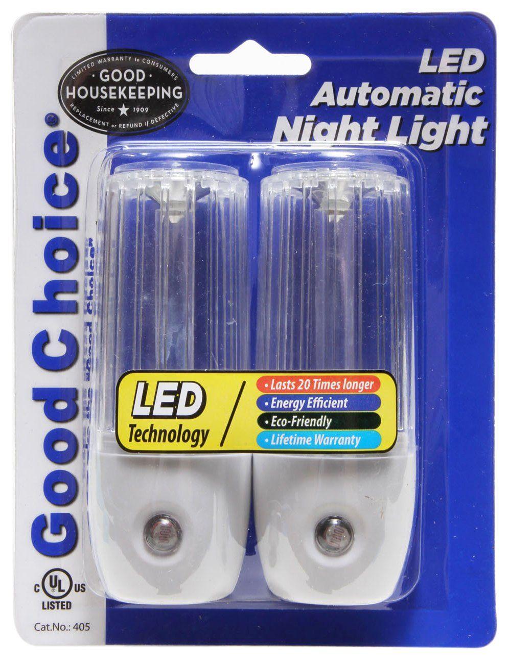 Good Choice 405 Dusk To Dawn White Automatic Encapsulated Led Night Light Pack Of 2 Led Night Light Night Light Dusk To Dawn