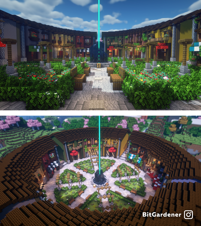 I made a shopping district for my survival server!