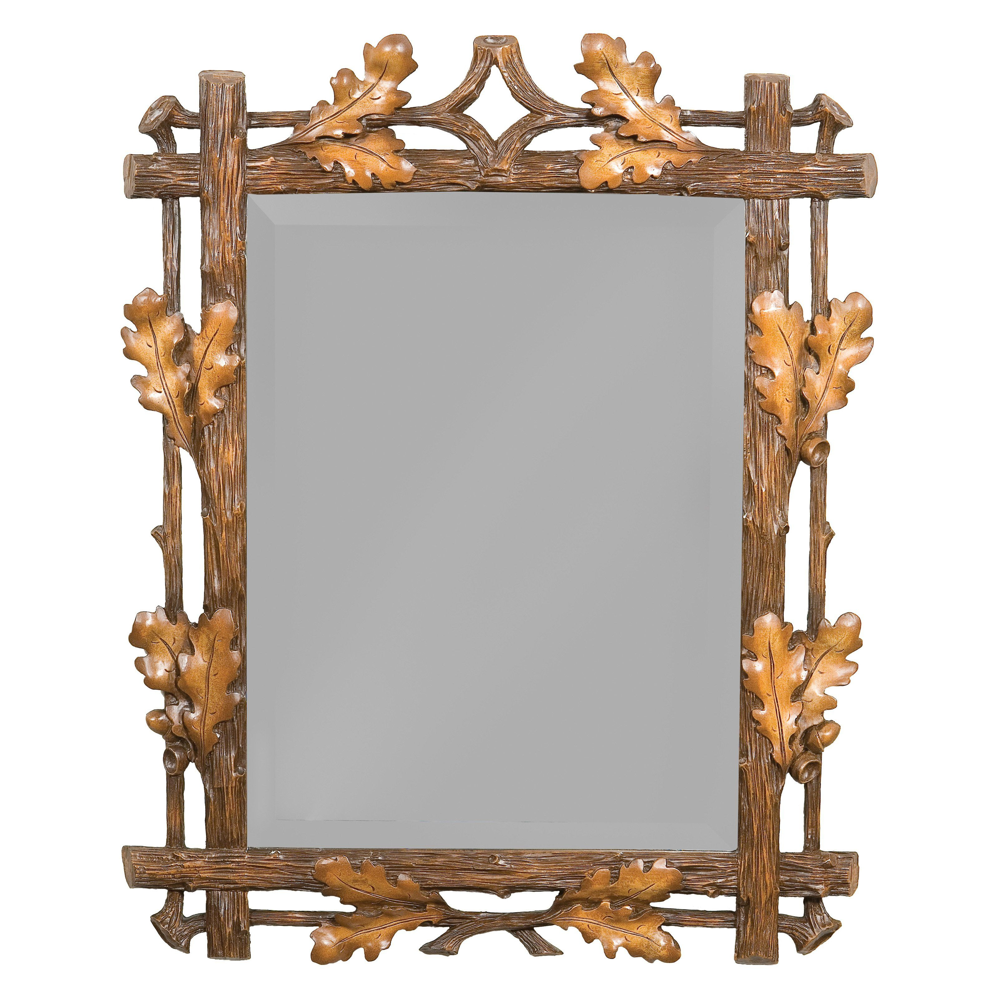 Oklahoma Casting Medium Oak Leaf Wall Mirror From Hayneedle Com