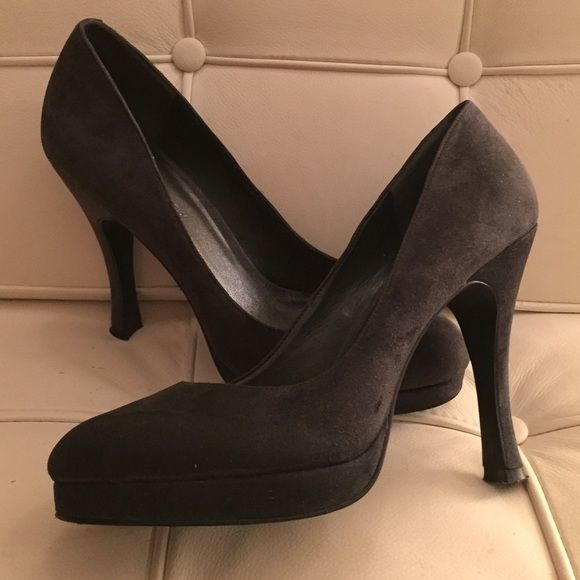BCBGeneration blue suede heels Great condition. Maybe worn twice. BCBGeneration Shoes Heels