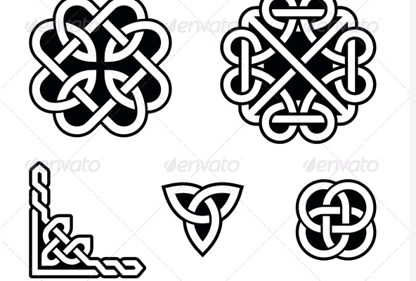 Celtic knots patterns   Clip Art  Icons  Graphics MoreOval Celtic Knot Border