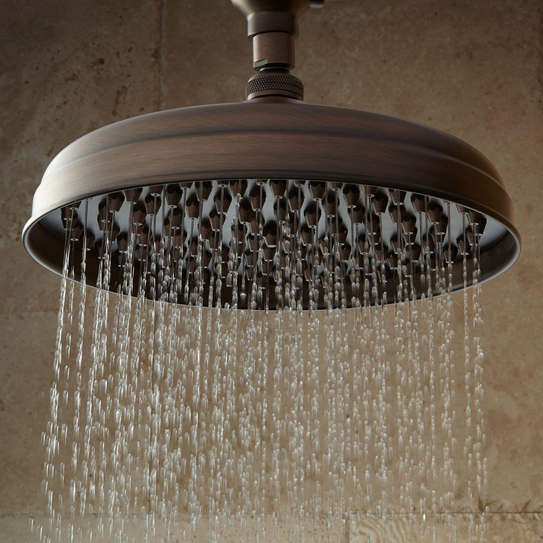 Lambert Rainfall Nozzle Shower Head With S Type Arm Shower Heads Bathroom Shower Heads Rainfall Shower Head Bronze Shower Head