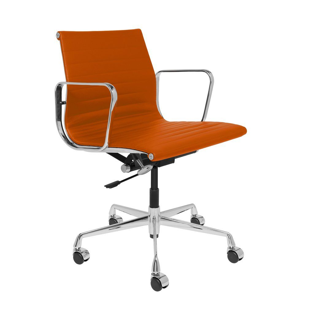 Soho premier ribbed management chair orange italian