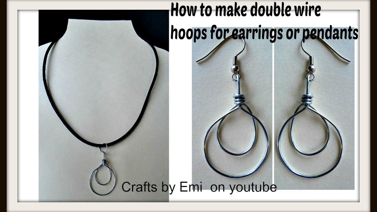 DOUBLE HOOPS earrings or pendant, wire wrapped jewelry, jewelry ...