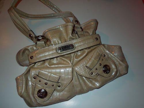 women's #handbag #KathyVanZeeland purse beige compartments pockets zippers $19.00 free shipping