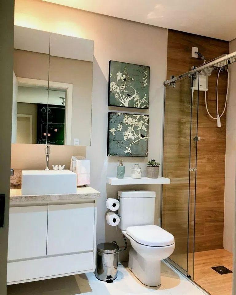 43 Simple Small Apartment Bathroom Remodel Ideas