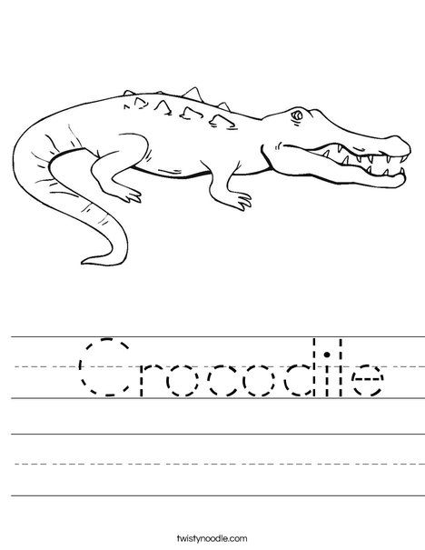 Crocodile Worksheet - Twisty Noodle | Projects to Try | Pinterest ...