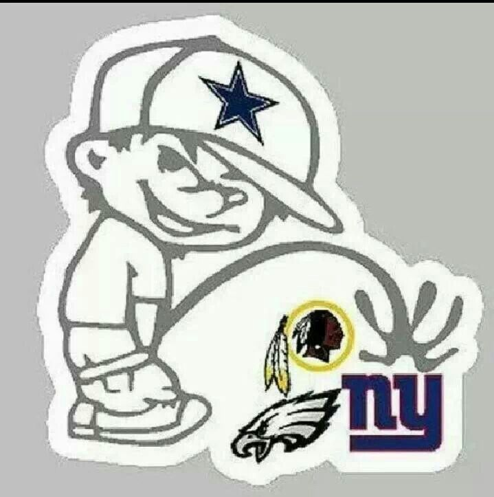 Dallas cowboys pissing on washington redskins decal