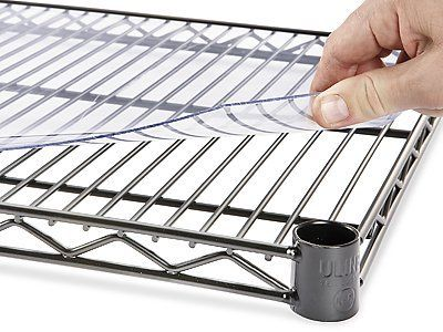 Plastic Shelf Liner 48 X 18 Min Order Of 4 By Uline 19 00 Wire Shelving Accessories Keep Your Smallest I Wire Shelf Liner Plastic Shelves Shelf Liner