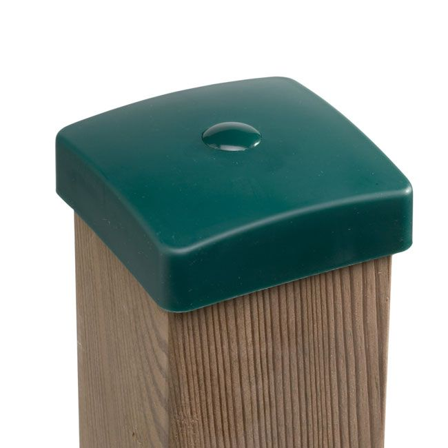 Best Green Plastic Wooden Post Protection Cover Caps With 400 x 300