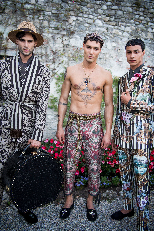 Male Pattern Boldness  Dolce   Gabbana's Alta Sartoria Ode to Villa  Carlotta Moda Masculina cb43522e359e