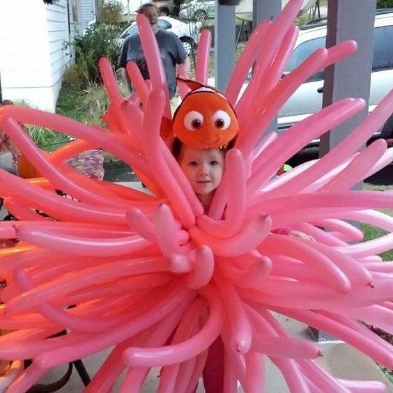 Findet Nemo Seeanemone Kostüm selber machen | Gruppenkostüme ...
