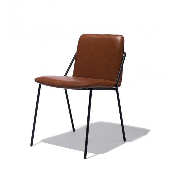 industry west sling chair leather stackable