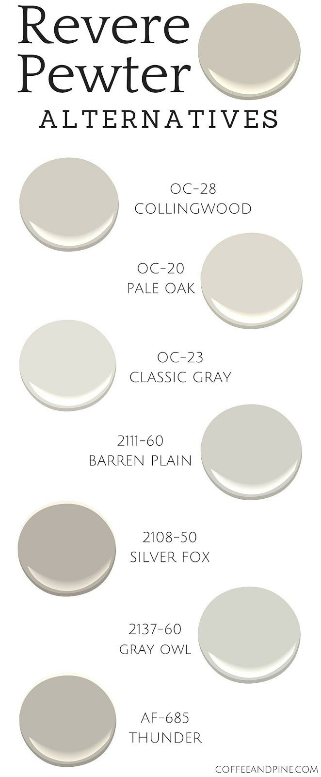 Revere Pewter Alternatives | Benjamin moore, House and House paint ...