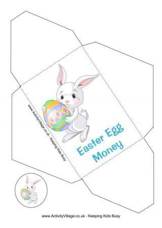 Easter Money Envelope Bunny And Egg Money Envelopes Gift Envelope Easter Blessings