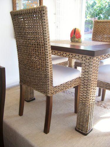 rattambu muebles de rattan y bambu barranquilla Teak Dining Room Table Black Dining Room Table