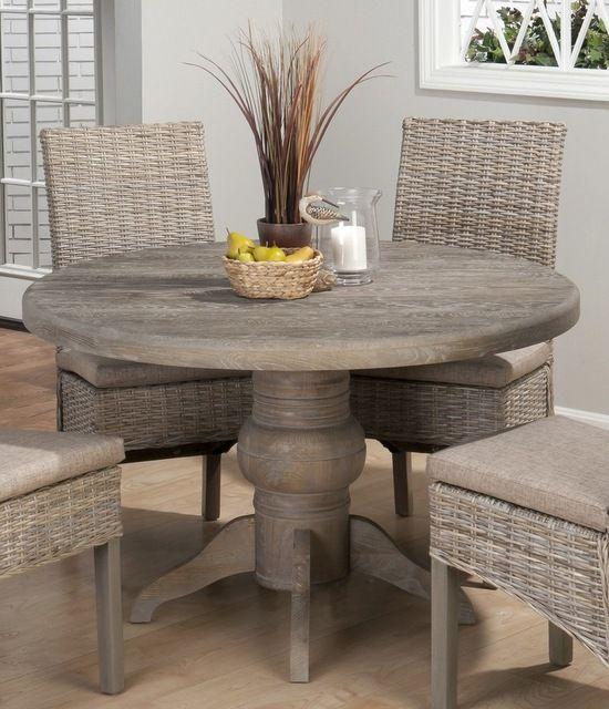 Jofran Burnt Grey Inch Round Dining Table W Fixed Top - 48 inch round contemporary dining table