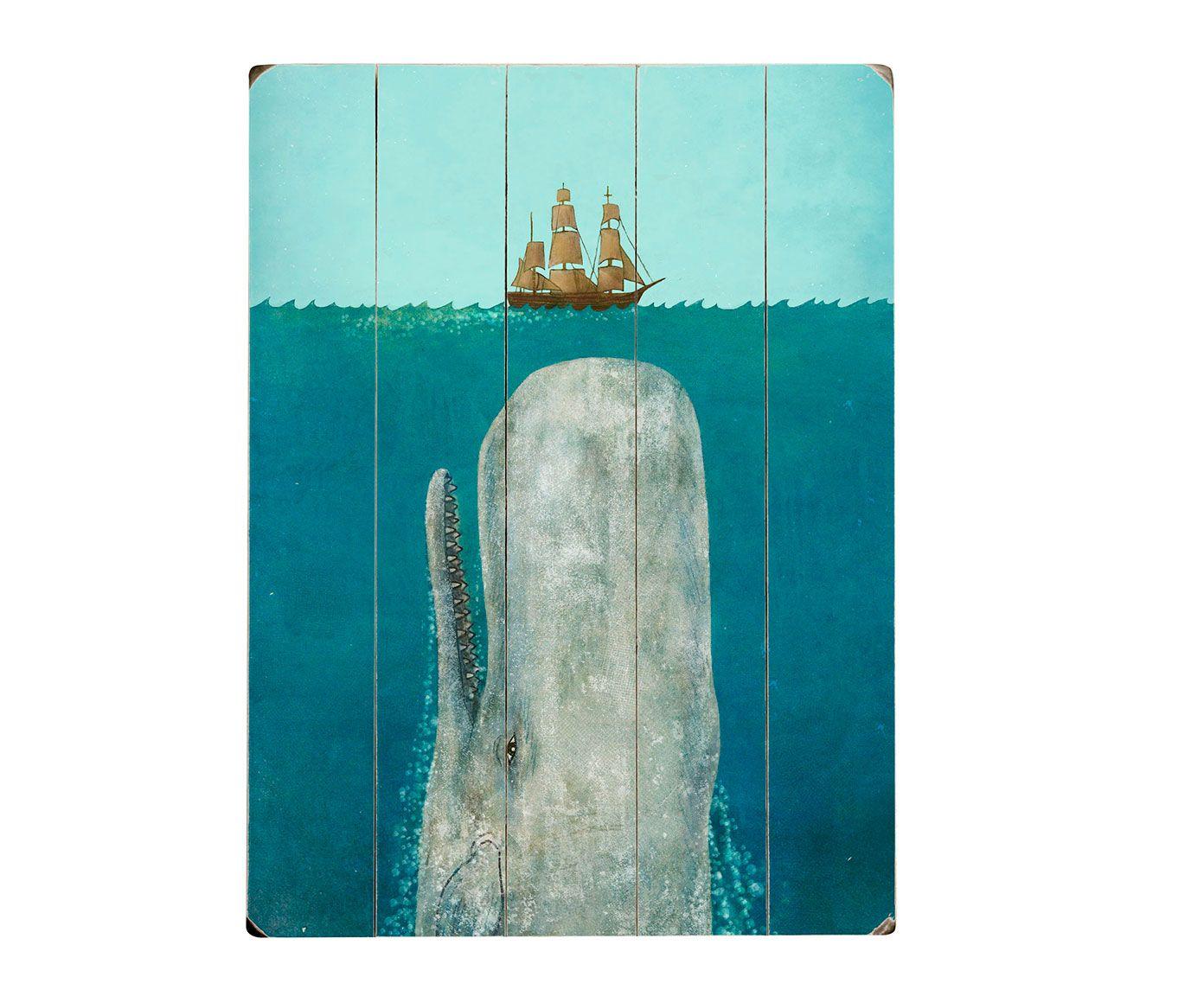 "Wydruk na drewnie ""The Whale"" | Westwing Home & Living"