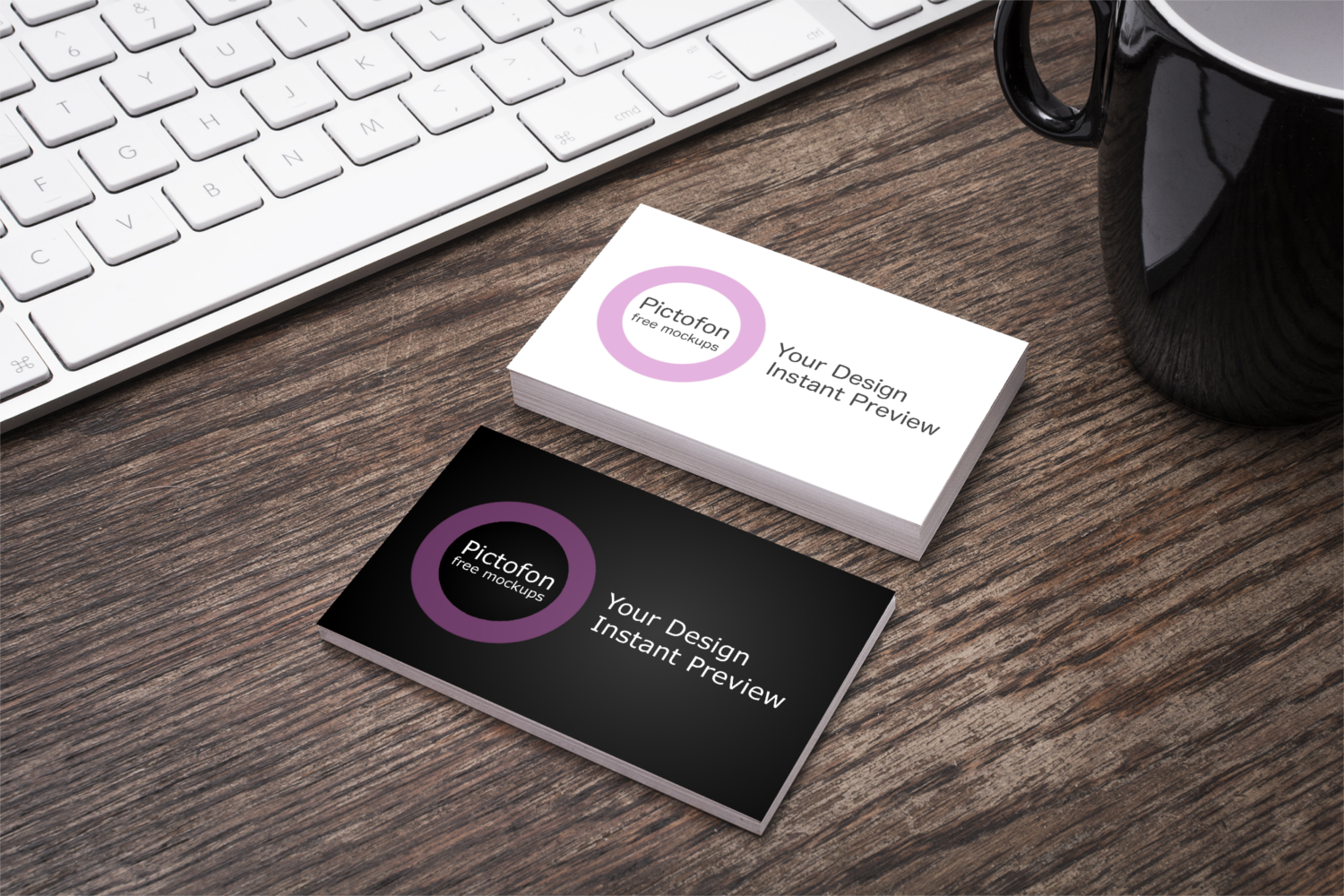 2 new business card mockups with instant preview of your