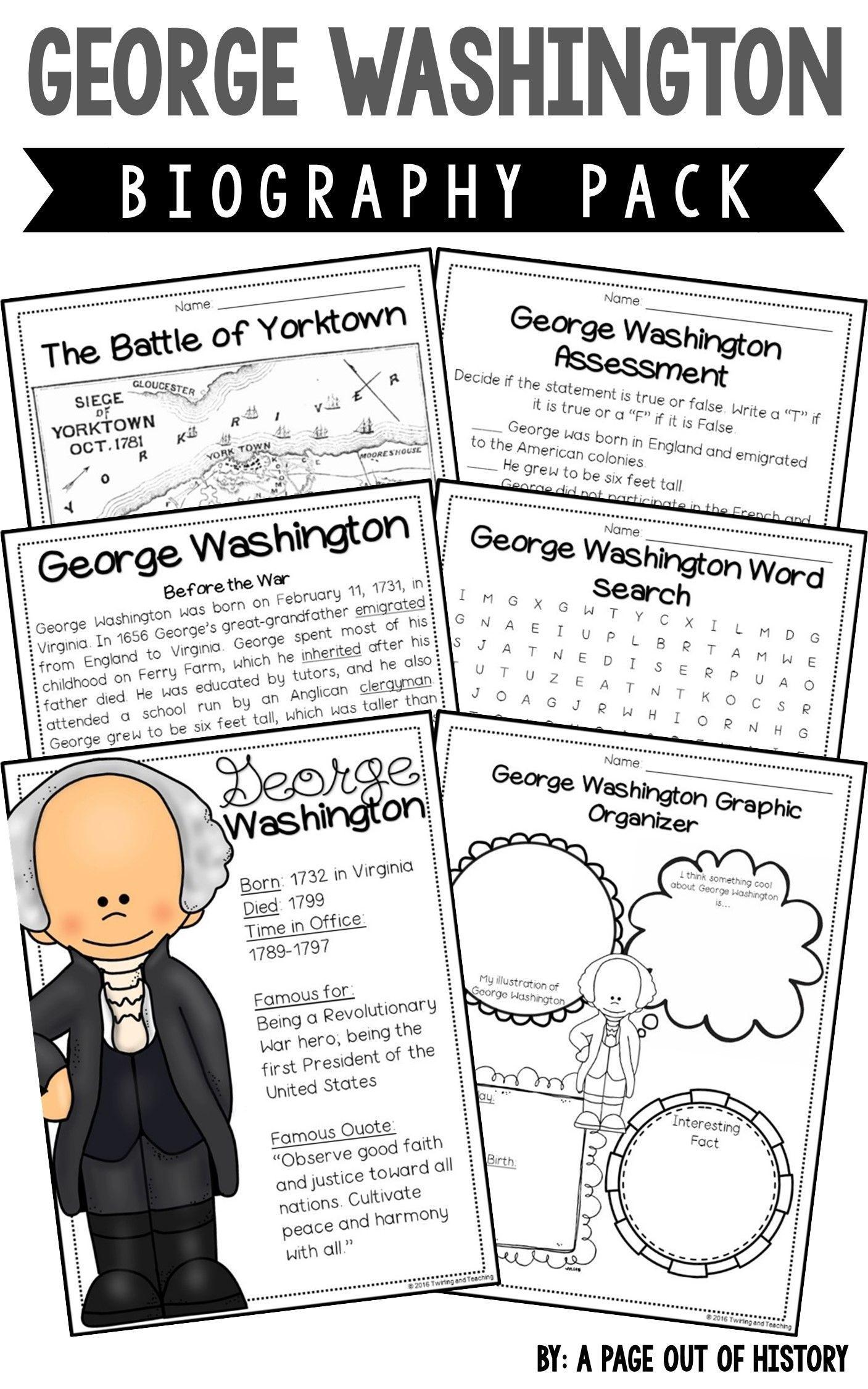 George Washington Biography Pack U S Presidents In