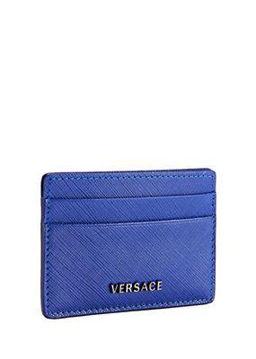 Versace leather credit card holder wallets pinterest versace leather credit card holder colourmoves Images