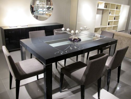 Incavo 1800X950Mm Dining Table Glossy Dark Grey 56  Home Custom Dark Grey Dining Room Inspiration Design