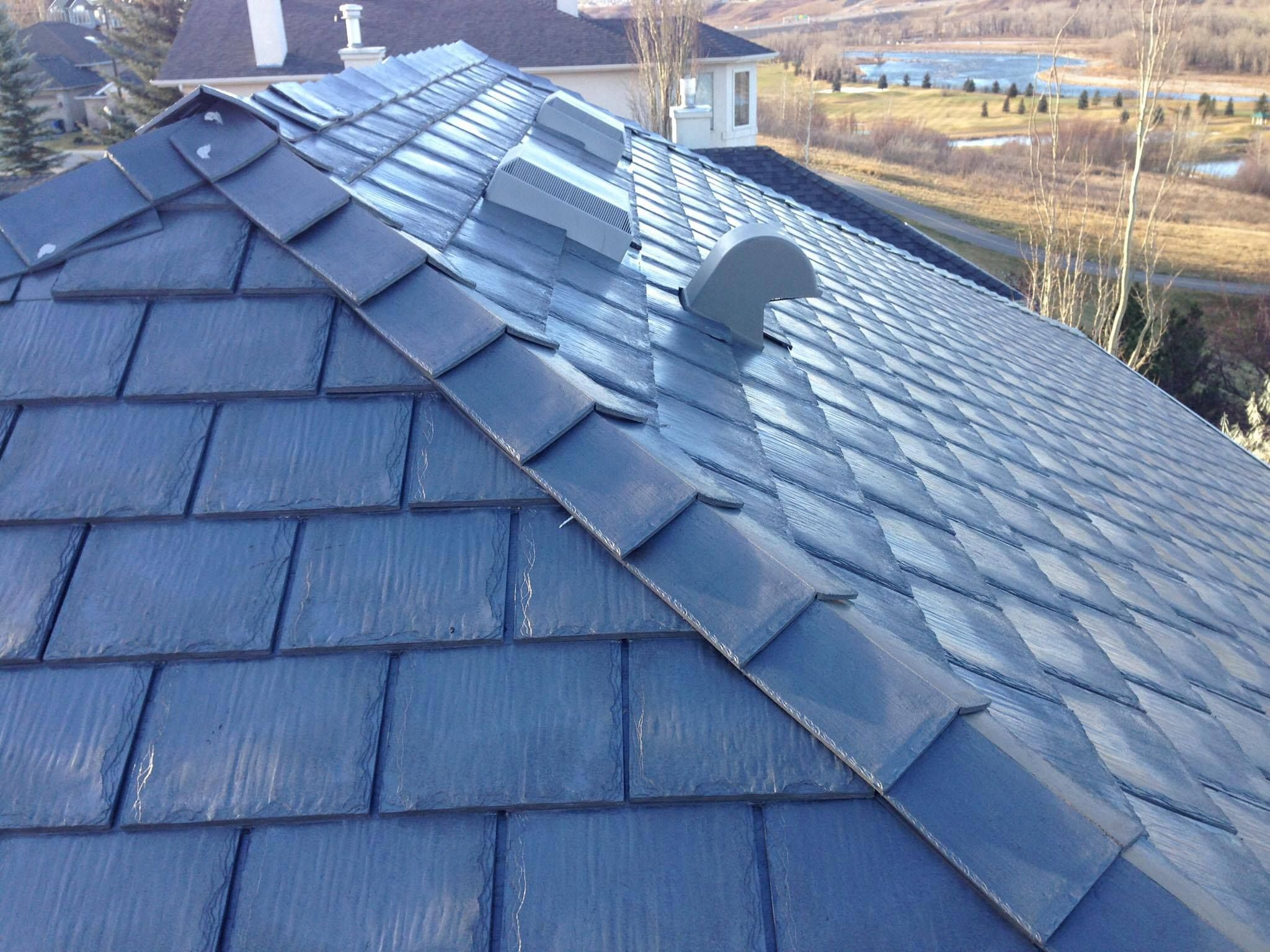 Heritage Slate In Sterling Grey Home Roof Heritage Slate Grey Roofing Roofingmaterial Rubber Rubber Roofing Plastic Roof Tiles Rubber Roofing Material