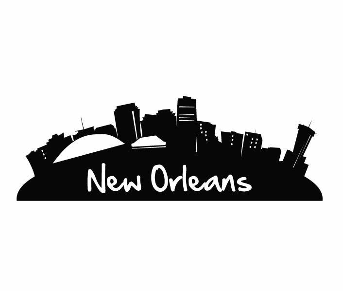 New Orleans Cartoon Skyline Nola Decals New Orleans Skyline Design Classes