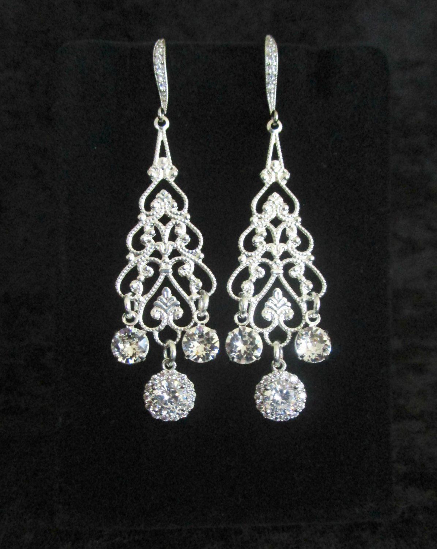 Crystal chandelier earringsbridal earringswedding jewellry crystal chandelier earringsbridal earringswedding jewellrybridesmaid earringswedding earrings arubaitofo Choice Image