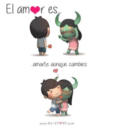 Photo of 'El amor es': 25 Ilustraciones que expresan perfectamente cómo es el amor en pareja