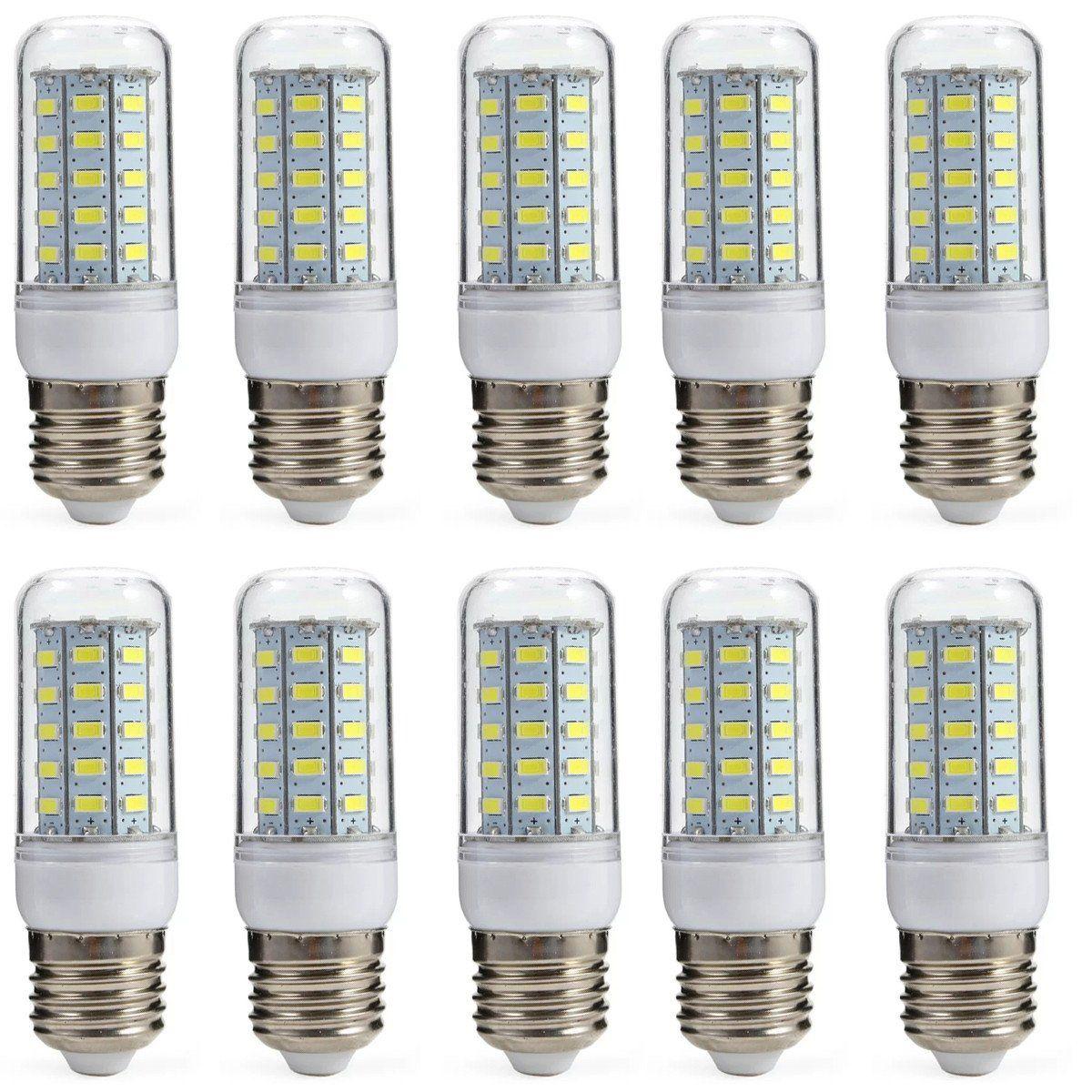 Aoxdi 10x E27 Led Lampe Leuchtmittel 7w Kaltwei 48 Smd 5730 Energiesparlampe E27 Led Birne Gl Hbirne Ac220 240v In 2020 Led Birnen Leuchtmittel Led Lampe
