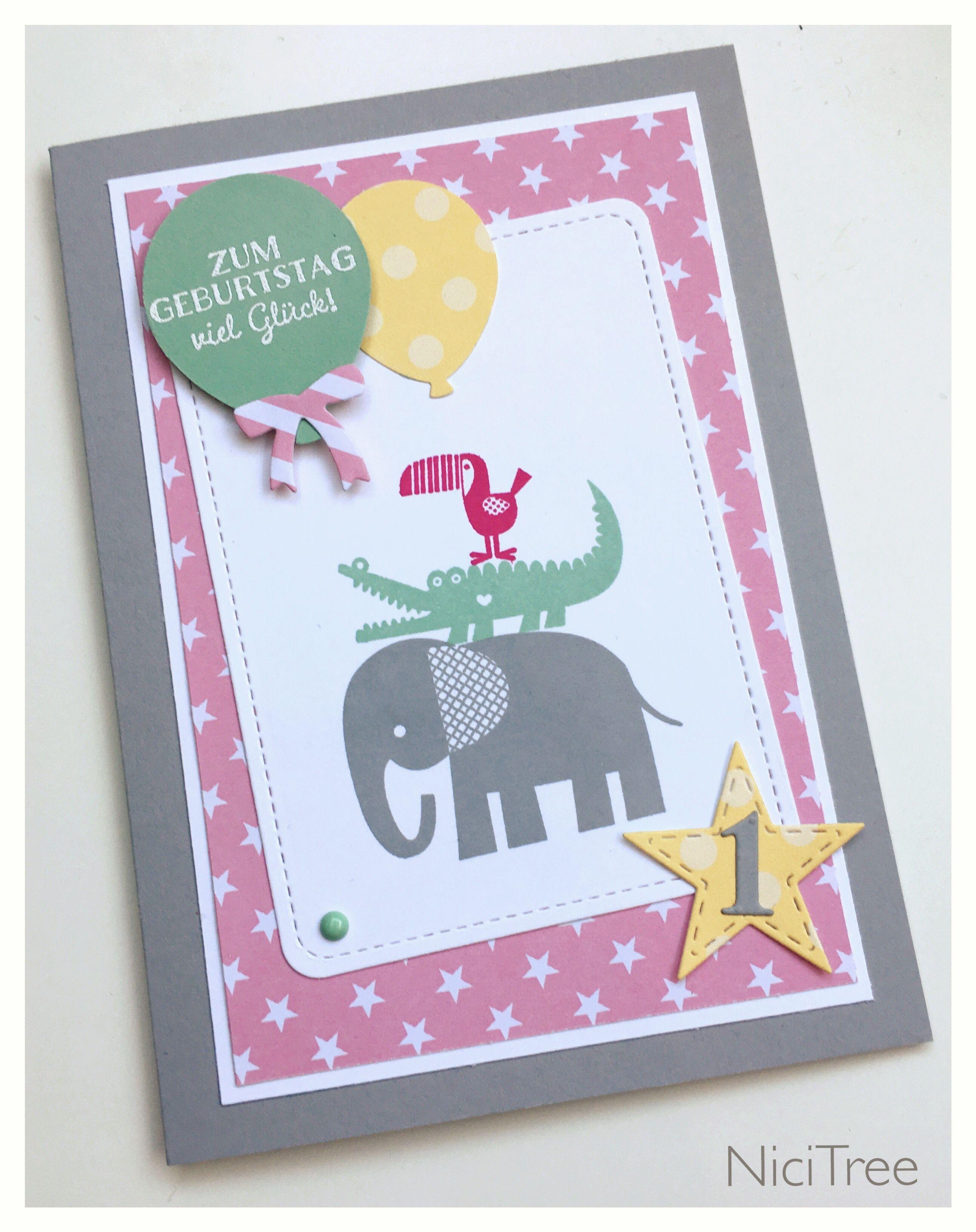 Stampin Up Birthday Card 1 Geburtstag Zoo Babies