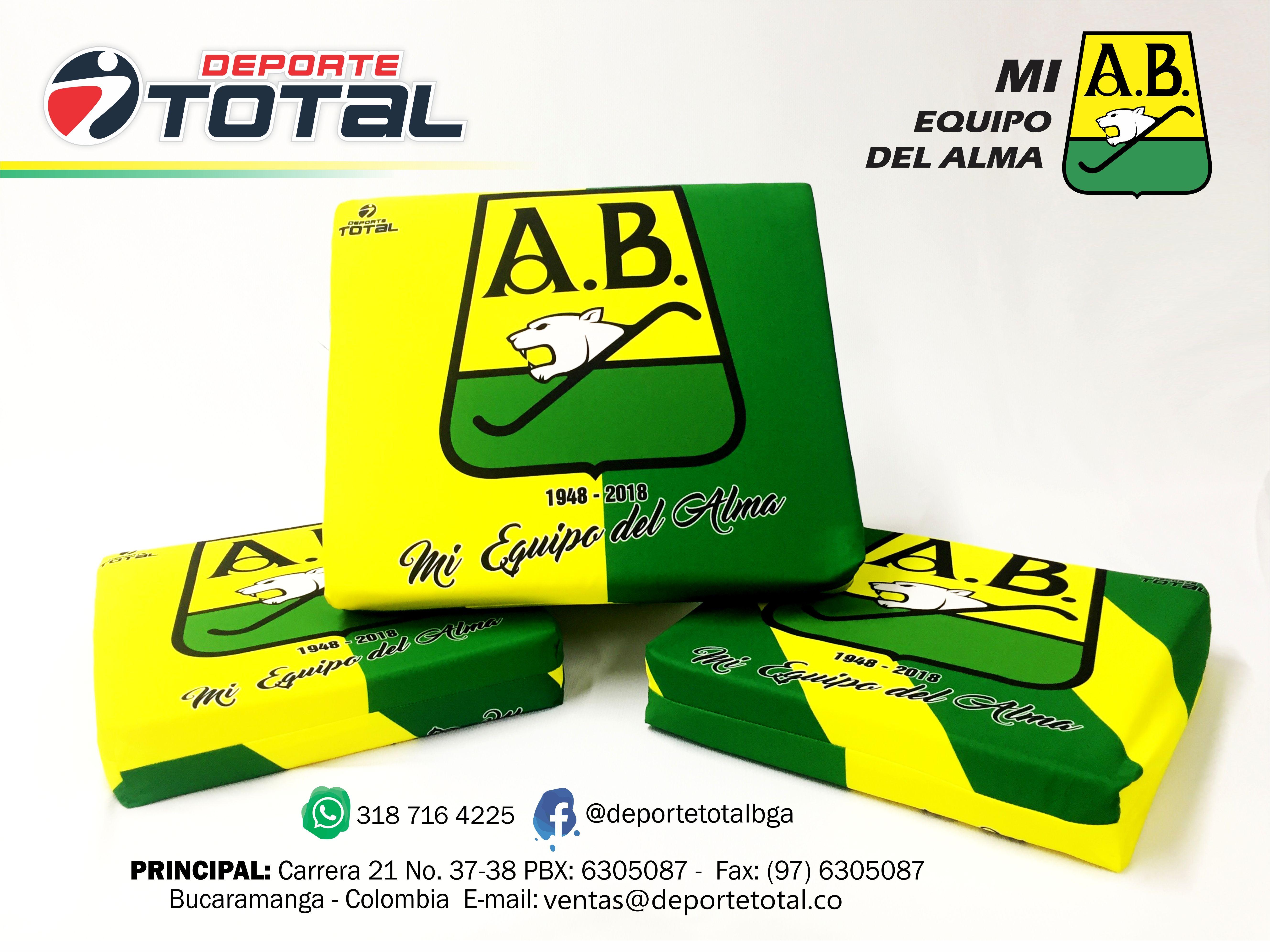 Cojin Atletico Bucaramanga Deporte Total Tienda Deportiva Colombia Deportes Articulos Deportivos Atleta