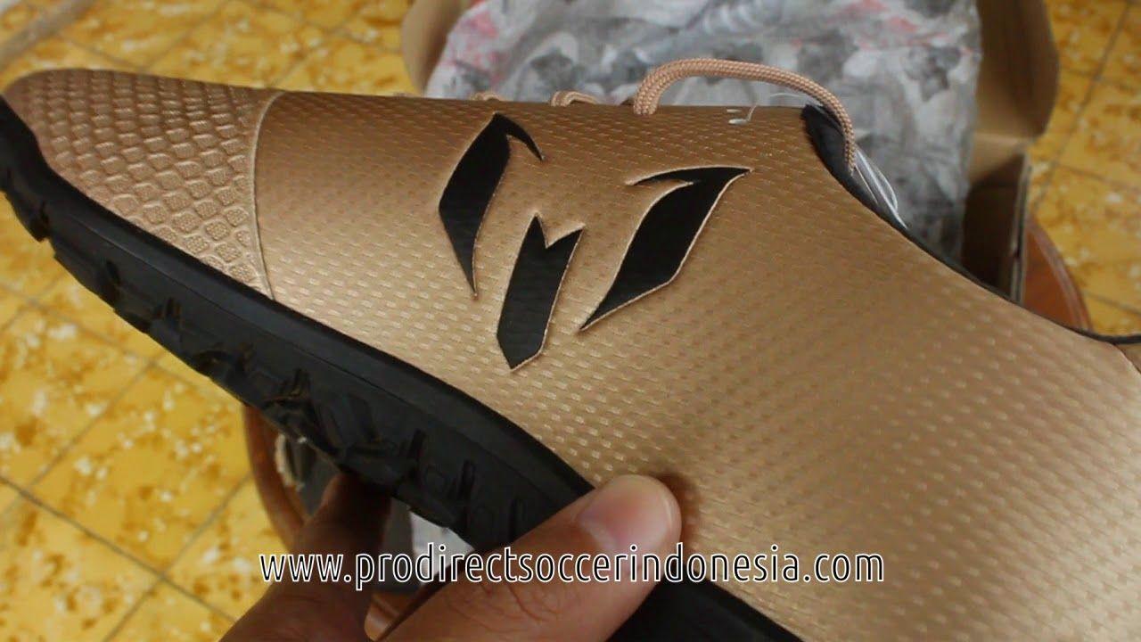 Sepatu Futsal Adidas Messi 16 3 Tf Copper Metallic Core Black