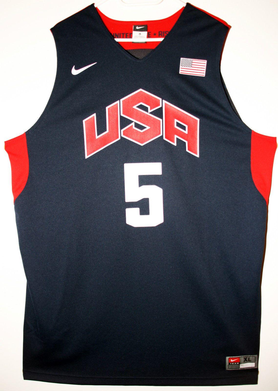 3a6a10af9 Nike NBA Basketball USA Basketball Team  5 Kevin Durant Trikot Jersey Size  48 -