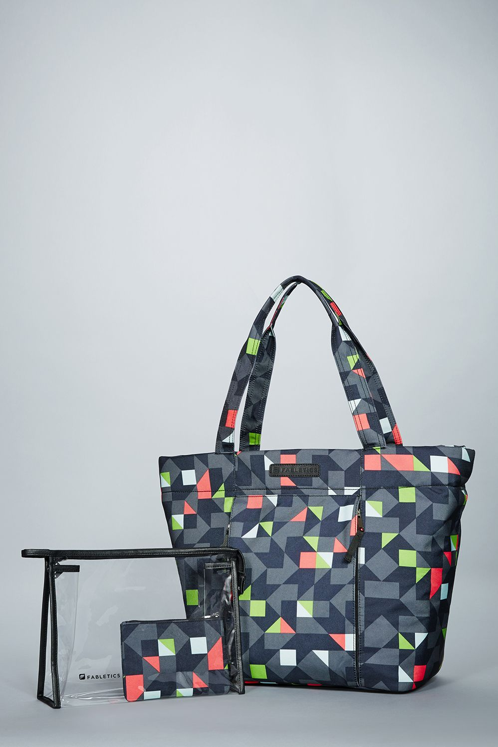 b386085ee03a Fabletics- geometric printed work out bag with space for yoga mat ...