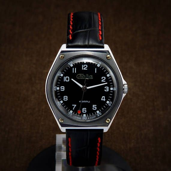 90785d8bc78aa Slava Racing Dashboard Style Early Quartz Soviet Watch From