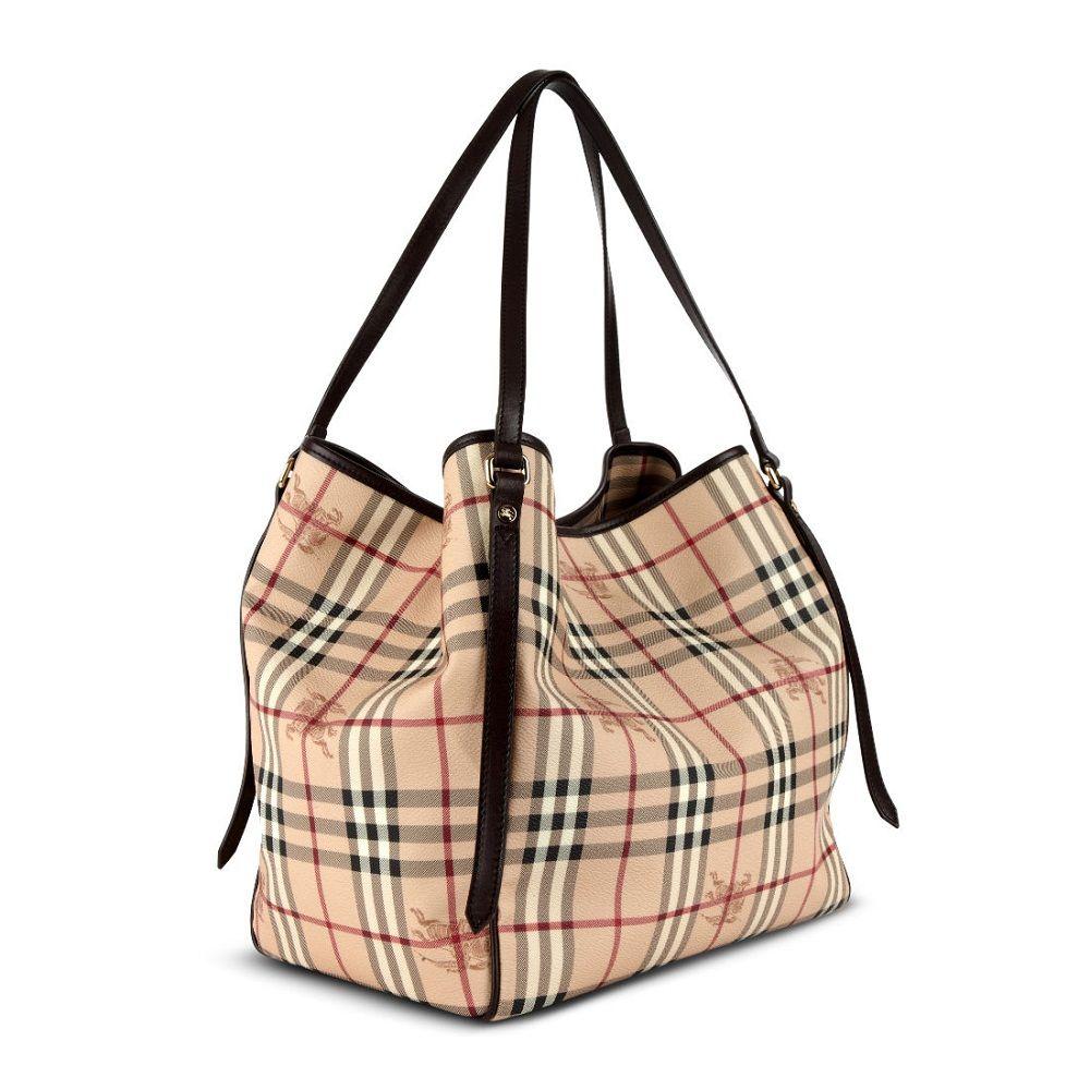 Burberry Haymarket Check Tote Bag  1efbf5b146b1a