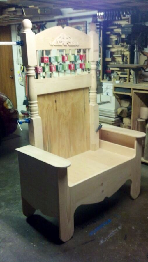 Unfinished Version Of Tim S Chair Christmas Chair Wood