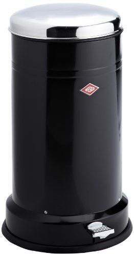 Kitchen Trash Can 22Lts Classic Boy With Pedal Black ...