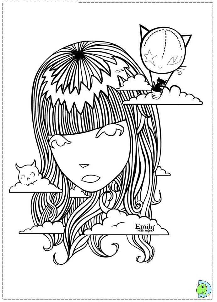 emily the strange coloring page google search - Weird Coloring Books