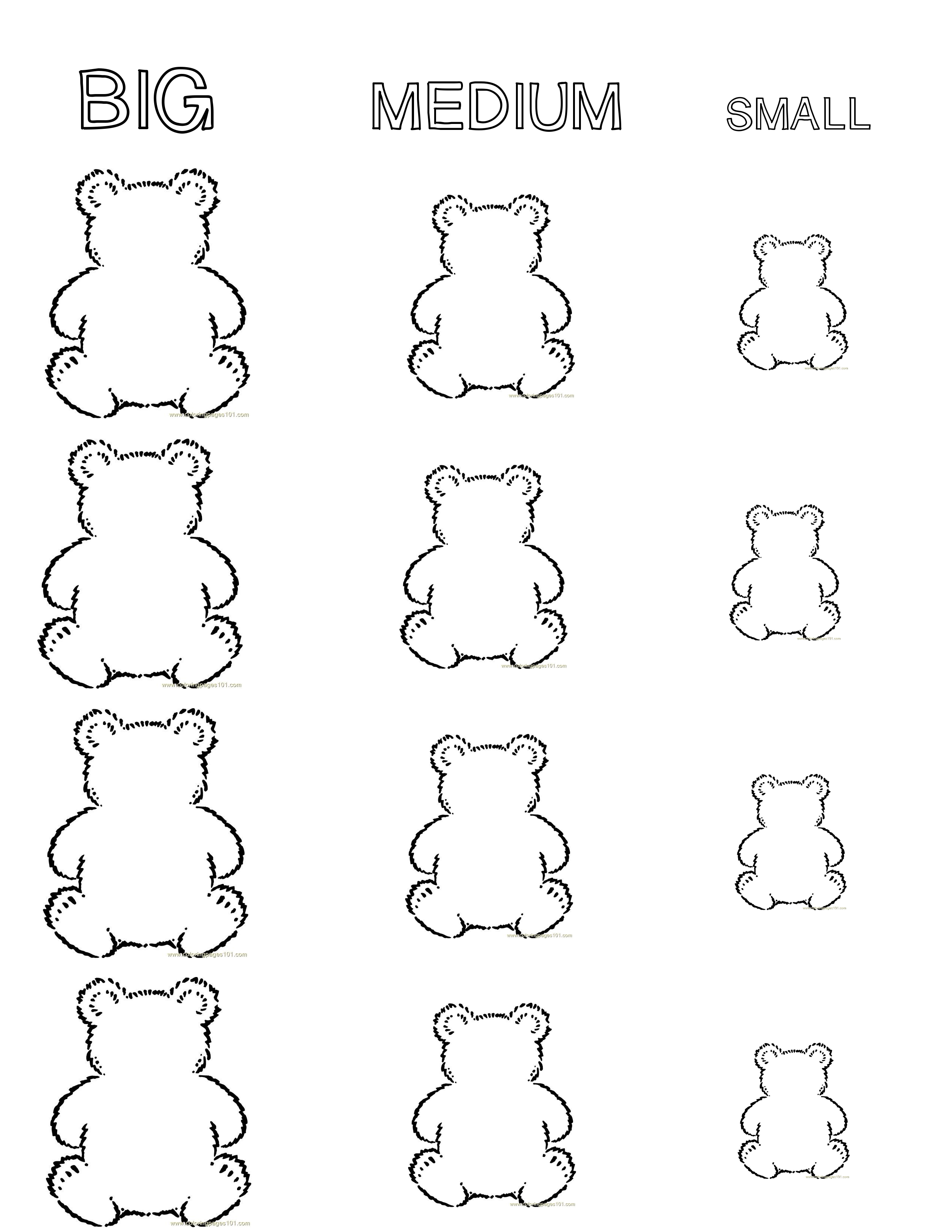Sorting Bears By Size
