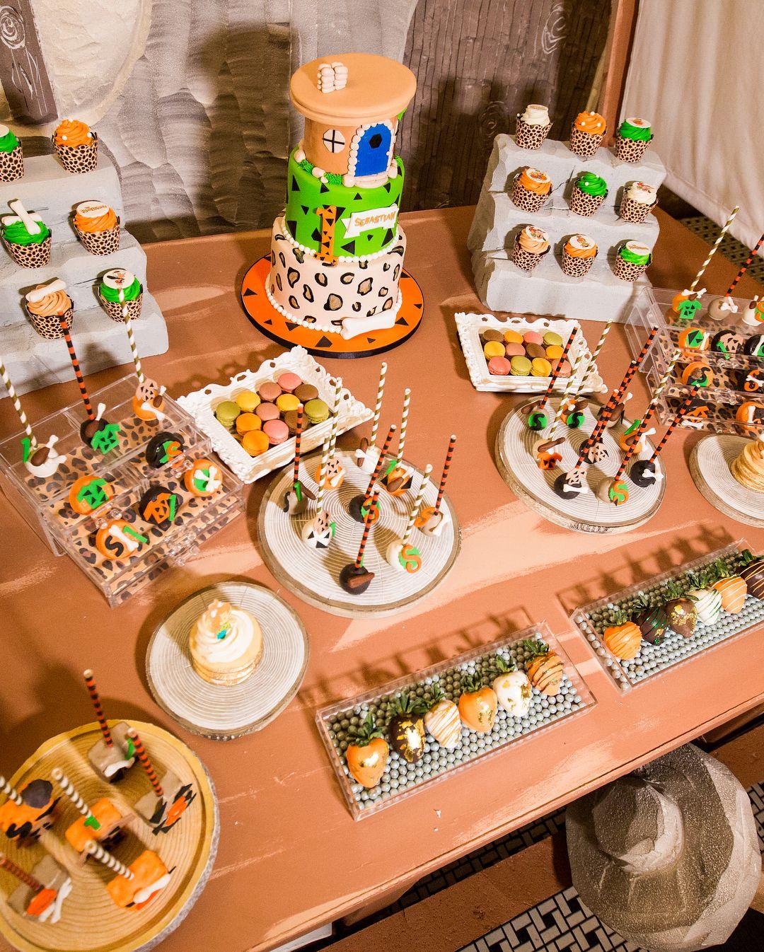 Throwback To The Coolest Flintstones Dessert Table Ever