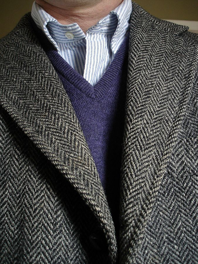 Vintage JPress 3/2 Harris Tweed jacket, Johnstons of Elgin cashmere sweater in…